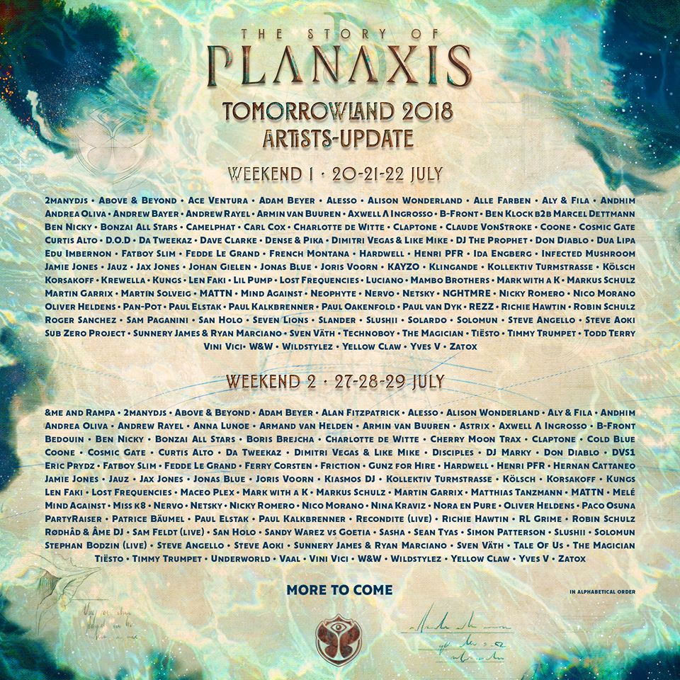 Tomorrowland-2018_1st-phase-lineup