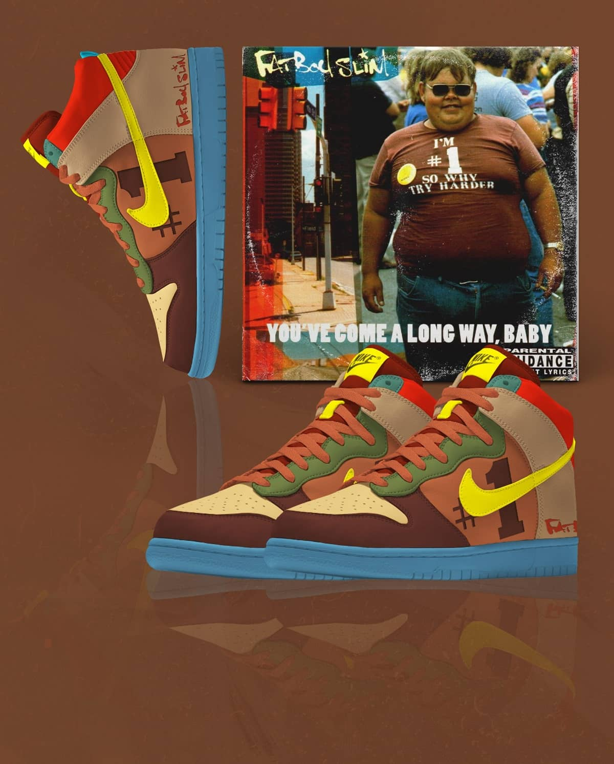 Mixmag_Album-Covers-Nike-Sneakers_Fatboy-Slim-You've-Come-a-Long-Way-Baby-DUNK-HIGH-BABY