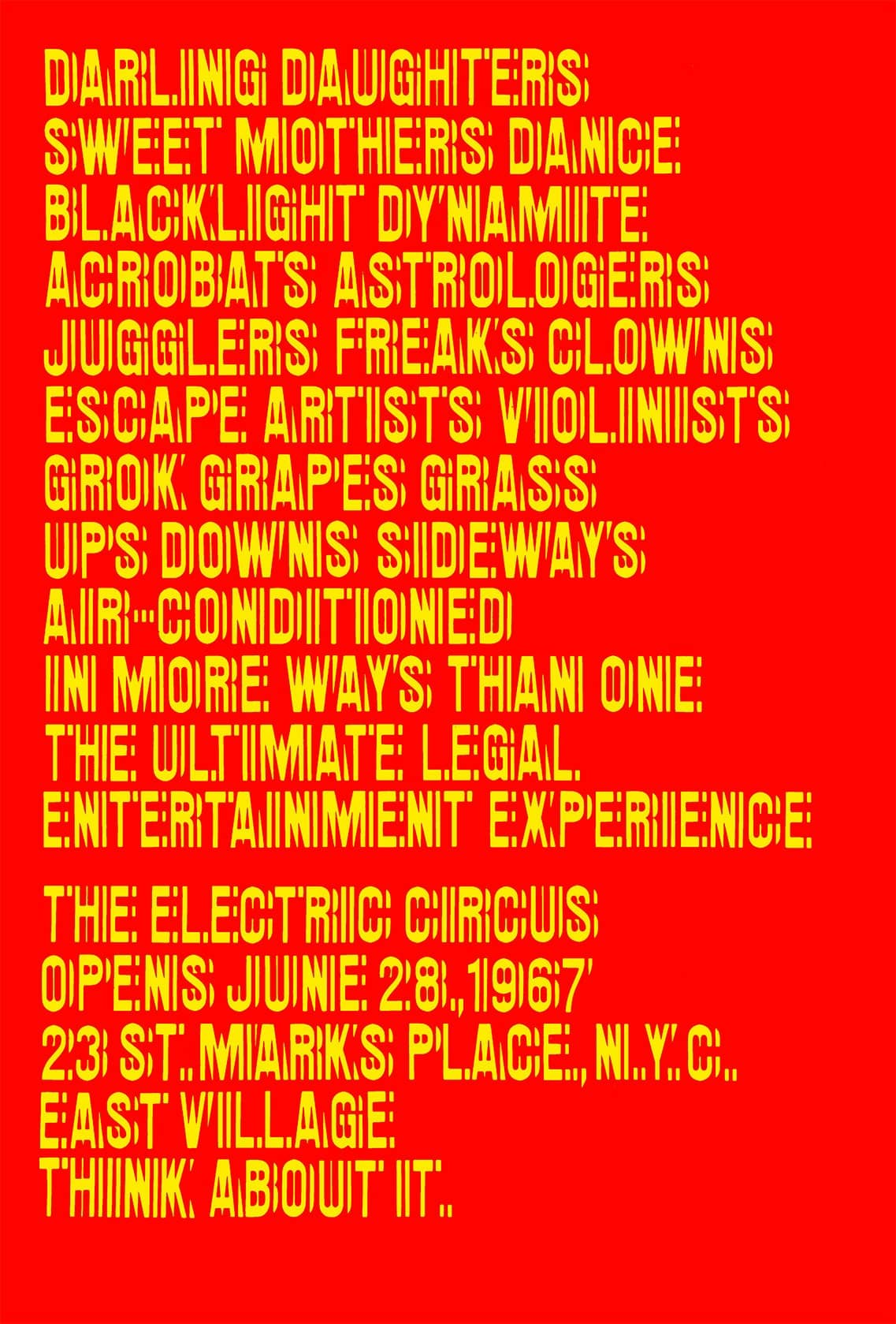Night-Fever-at-Vitra-Design-Museum_Electric-Circus-poster-1967_Credit-design-by-Oliver-Munday--Ivan-Chermayeff--Tom Geismar_1137